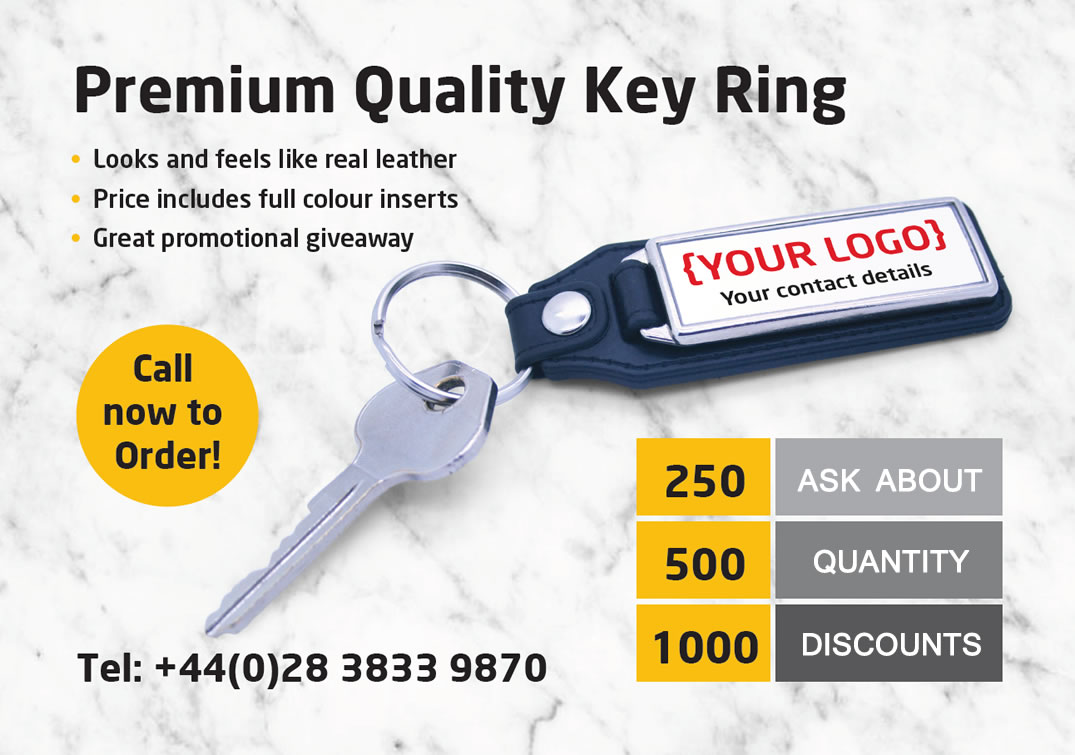 Promotional Keyrings - Personalised with Your Branding