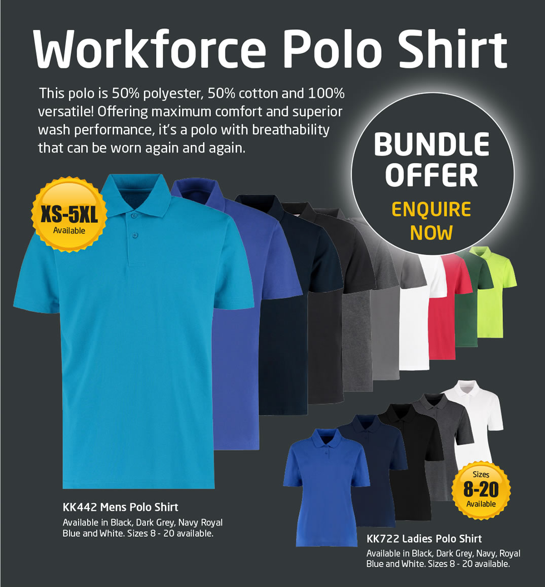 Workforce Polo Shirt - Bundle Offer